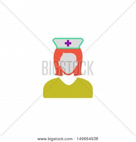 Nurse Icon Vector. Flat simple color pictogram