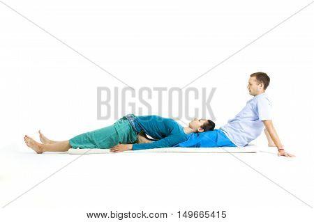 Massage parlor. Various techniques of Thai massage