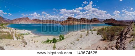 Panorama of beautiful Quail creek state park zion national park