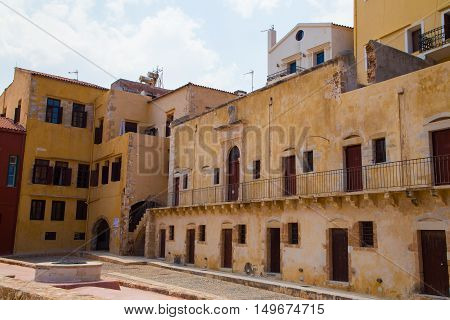Old venetian town Chania at Crete, Greece