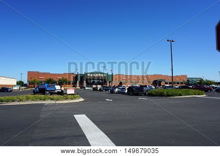 PLAINFIELD, ILLINOIS / UNITED STATES - SEPTEMBER 19, 2016: One may purchase building supplies, hardware, tools and lumber at the Menards store in Plainfield.