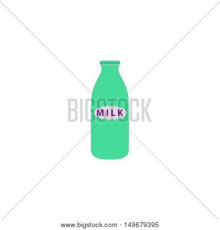 Milk Icon Vector. Flat simple color pictogram