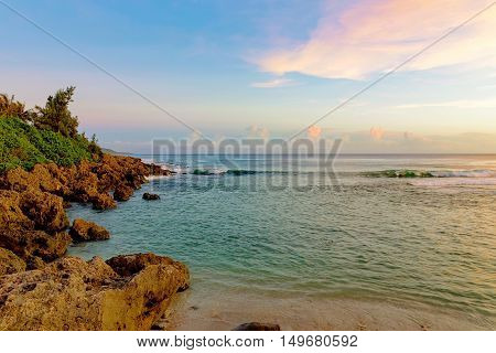 Seascape in Kenting during sunset in Kenting Taiwan