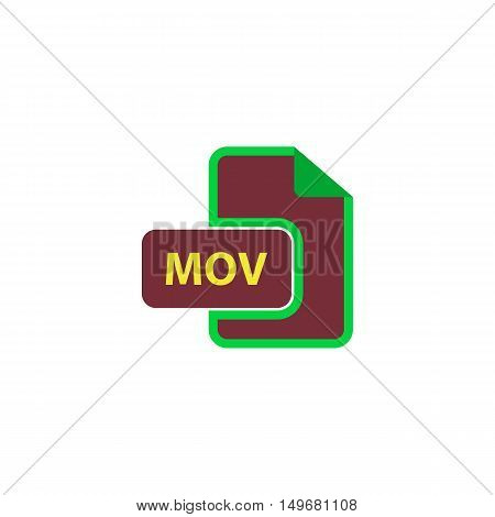 MOV Icon Vector. Flat simple color pictogram