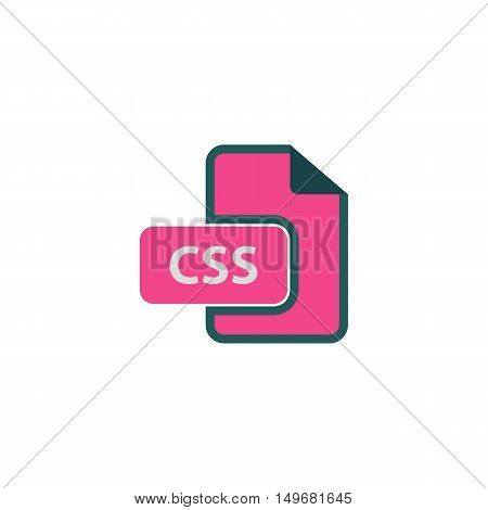 Css Icon Vector. Flat simple color pictogram