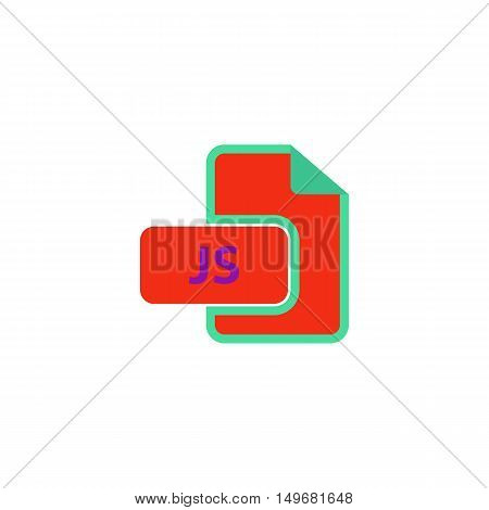JS Icon Vector. Flat simple color pictogram