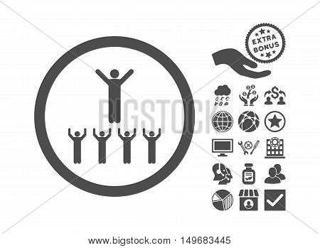 Religion Adepts pictograph with bonus pictures. Vector illustration style is flat iconic symbols gray color white background.