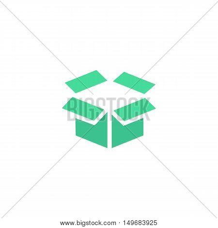 Box Icon Vector. Flat simple color pictogram