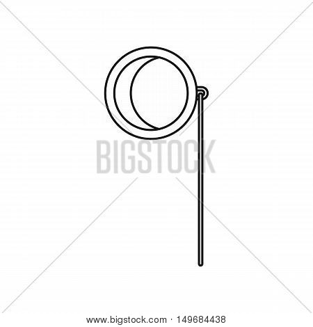 Monocle icon in outline style isolated on white background vector illustration
