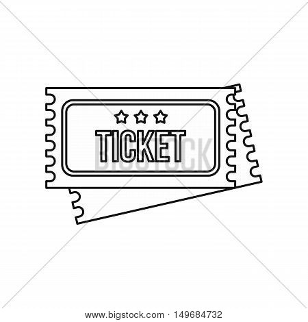 Vintage circus tickets icon in outline style isolated on white background vector illustration