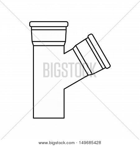 Water pipes icon in outline style isolated on white background vector illustration