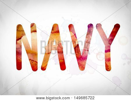 Navy Concept Watercolor Word Art