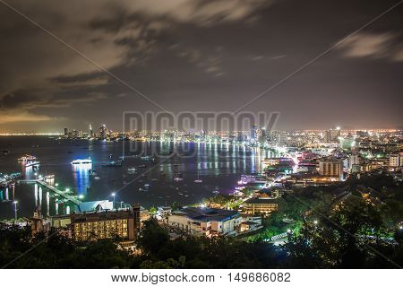Pattaya City in Thailand. Major cities in Thailand. Beautiful Thailand.