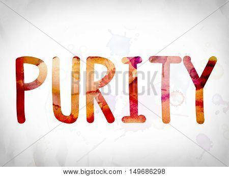 Purity Concept Watercolor Word Art