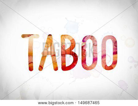 Tabooconcept Watercolor Word Art