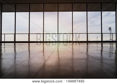 Image Of Windows In Morden Office Building.