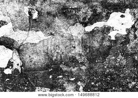 Grunge Black And White Distress Texture . Grunge Scratch And Texture Or Ackground. Vintage Or Grungy