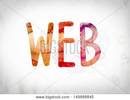 Web Concept Watercolor Word Art