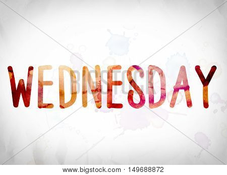 Wednesday Concept Watercolor Word Art