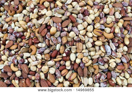 Mix Of Dried Salted Nuts