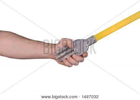 Robot Handshake With Man