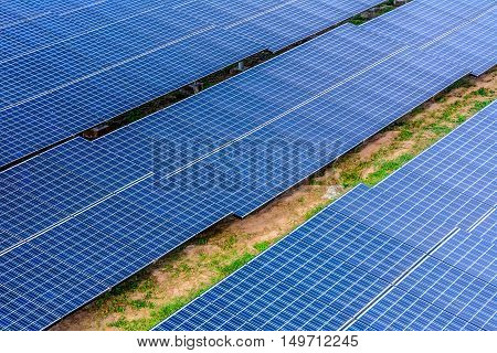 horizon shot Solar cell panel on the ground