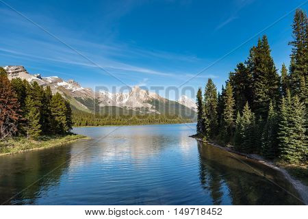 Scenic Maligne Lake Jasper National Park Alberta Canada