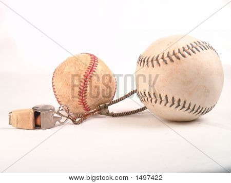 A baseball softbal