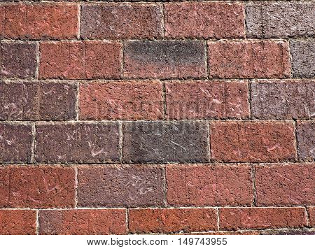closeup photo of the texture for a brick wall