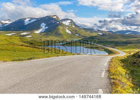 The  Vikafjellsvegen National Tourist Route To Vik, Norway