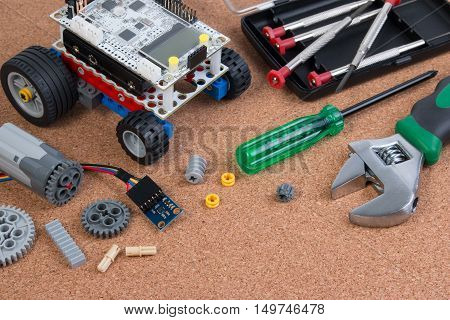 Intellectual Development Diy Robot Toy Assembly Kit With Microcontroller.