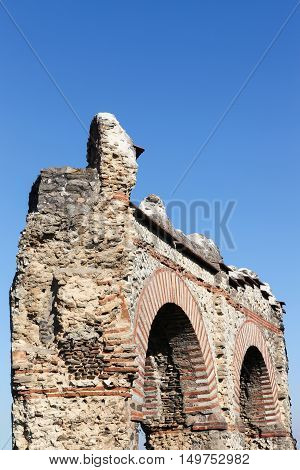 Roman aqueduct of the Gier in Chaponost near Lyon, France