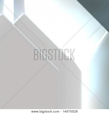Futuristic technology 3d metal geometric abstract background poster