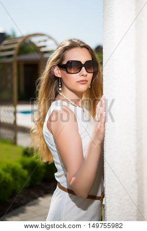 Portrait Of Pretty Blond Woman
