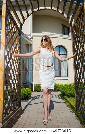Beautiful Slim Blond Woman