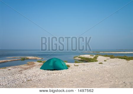 Loneline Tent At Seaside