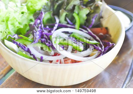 vegetable salad or mixed salad dish , vegetable salad
