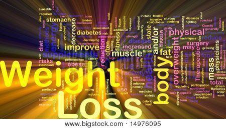 Background concept illustration of weight loss diet glowing light effect poster