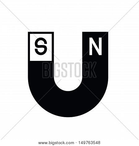 Icon black U-shaped magnets of vector ESP10