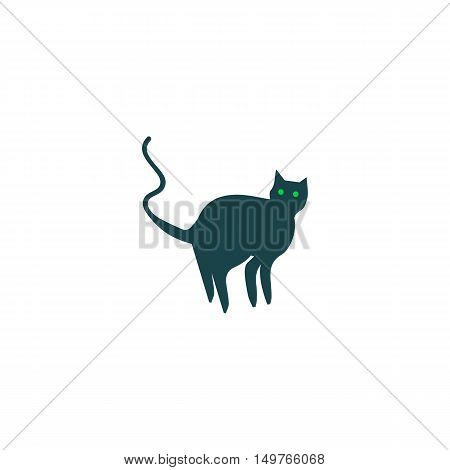 Cat Icon Vector. Flat simple color pictogram
