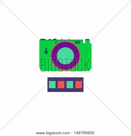 Camera Icon Vector. Flat simple color pictogram