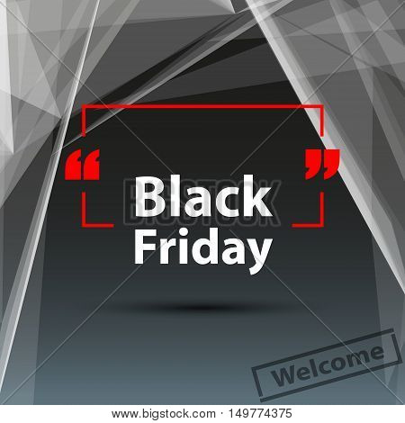 Abstract composition, black friday deal, polygonal triangle foundation, purchase discount coupon, seasonal sale affiche, creative reduction advertisement message, square shopping mockup, vector