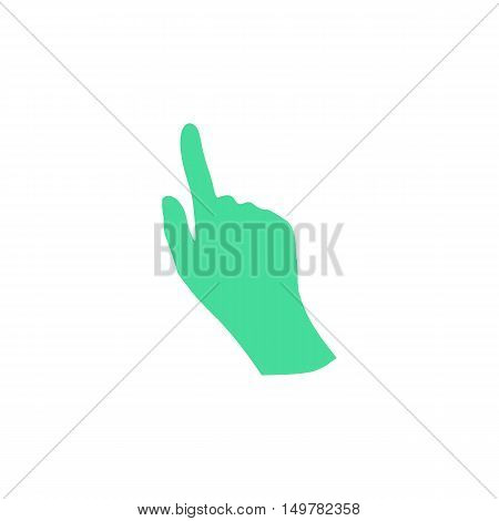Hand Icon Vector. Flat simple color pictogram