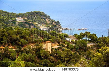 Medieval walled in town of Tossa de Mar, Catalonia, Spain