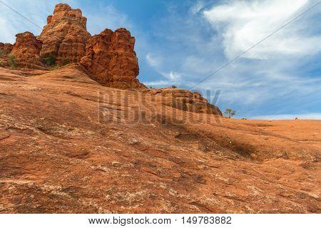 The Bell Rock near Sedona Arizona in the USA
