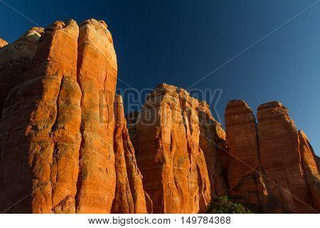 The Cathedral Rock peak next to Sedona Arizona