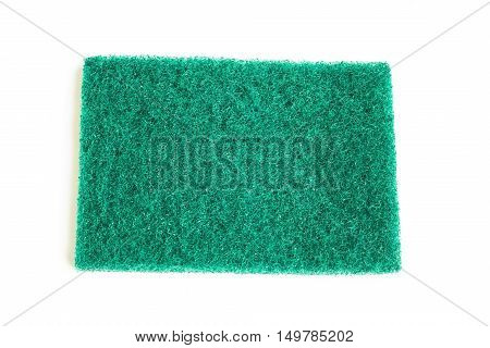 Green Sponge Cloth / sponges for dish washing in isolated over the white background / green scrub pad isolated on white background poster