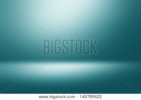 Light geen gradient abstract background. Empty room for display product