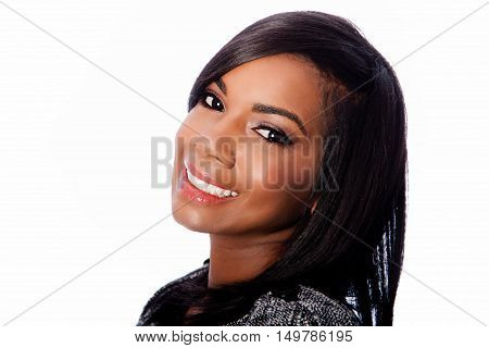 Black Beauty Face Of Businesswoman