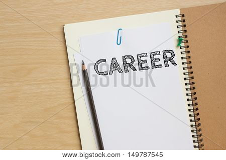 career text message on white paper note on the desk / business concept